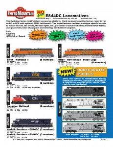 ES44DC Locomotives BNSF CSX Canadian National Norfolk Southern Undecorated
