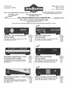 HO Scale 50' PS-1 SD Boxcars Santa Fe Bangor & Aroostook Delaware & Hudson Western Maryland Green Bay & Western Maine Central
