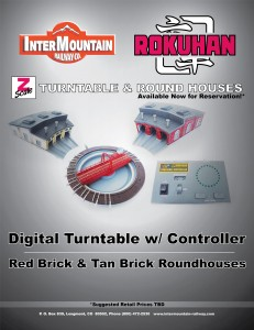 Rokuhan Z Turntable & Red Brick Tan Brick Roundhouses