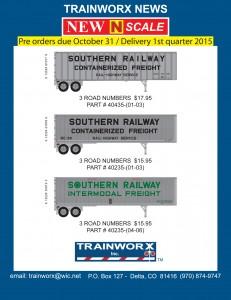 Trainworx N Trailers Southern Railway