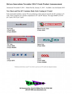 Deluxe Innovations Sheet and Post 40' Container Sea-Land K-Line NYK Mitsui OSK Lines Japan Line OOCL