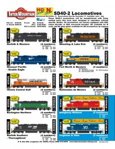 SD40-2 Norfolk & Western Missouri Pacific Eagle Illinois Central Gulf Burlington Northern Norfolk Southern Wheeling & Lake Erie Fort Worth & Western Nationales de Mexico Allegheny Midland Virginian & Ohio