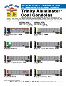 Value Line Trinity Aluminator Coal Gondolas Trinity Demonstrator TIMX Burlington Northern CIT Group CITX Canadian National Detroit Edison DEEX Transport Capital Rail Partners NCUX Union Pacific Transcisco Leasing GEAX