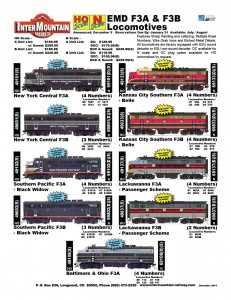 F3 New York Central Southern Pacific Kansas City Southern Lackawanna Baltimore & Ohio