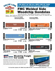Value Line Woodchip Gondolas Southern Pacific Golden West Service Union Pacific Willamette & Pacific