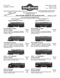 Baltimore & Ohio Southern Pacific ATSF Santa Fe Penn Central