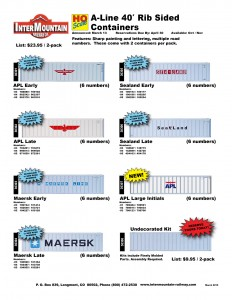 APL Maersk Sealand Undecorated Kit