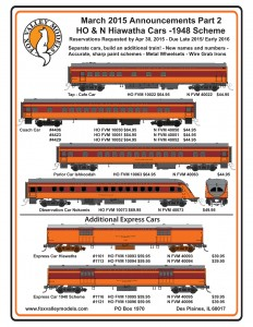 Milwaukee Road Hiawatha Passenger Cars