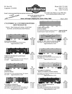 CSX Toronto Hamilton & Buffalo Canpotex Canadian National Anahuac Del Golfo CP Rail Canadian National CPLX Paintout Undecorated Kit