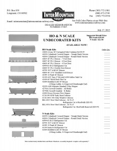 HO & N Scale Undecorated Kits
