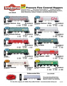 Canadian National British Columbia Railway Halliburton Stelco Mountain Minerals Procor Alaska RR Repaint LaFarge Cement Undecorated Kit