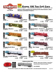 CSXT Norfolk & Western Conrail Chicago South Shore Chicago & North Western Iowa Interstate Norfolk Southern - Protect III Santa Fe BNSF Missouri Pacific Undecorated Kits
