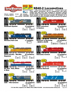 Seaboard System Montana Rail Link Union Pacific BC Rail CSX Saint Lawrence & Hudson Genesee & Wyoming Nebraska Central Indiana Railroad CEFX
