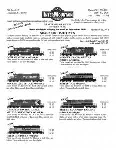 Conrail Rock Island Canadian Pacific Chessie Missouri Kansas Texas BNSF British Columbia Railway