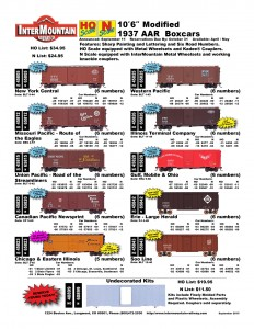 New York Central Missouri Pacific Union Pacific Canadian Pacific Chicago & Eastern Illinois Western Pacific Illinois Terminal Company Gulf Mobile & Ohio Erie Soo Line