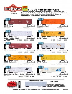 BNSF Union Pacific SPFE Burlington Northern Milwaukee Road BNFE UPFE FGE Undecorated Kits