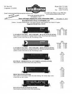 Canadian Pacific Multimark Sultran Procor Sullivan Scrap