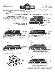 Norfolk Southern Fort Worth & Western Nationales de Mexico Allegheny Midland Virginian & Ohio