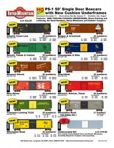 Atlantic Coast Line Detroit Toledo & Ironton Missouri Illinois New Haven Transport Leasing TLCX Milwaukee Road Bangor & Aroostook Chesapeake & Ohio Clinchfield Missouri Kansas Texas Milwaukee Road Undecorated Kit