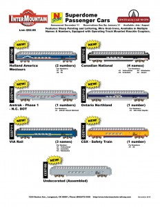 Holland America Westours Amtrak VIA Rail Canadian National Ontario Northland CSX Undecorated