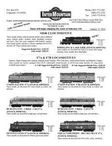 Wheeling & Lake Erie Union Pacific Burlington CB&Q Pennsylvania Great Northern