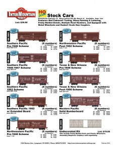 Southern Pacific Northwestern Pacific Texas & New Orleans Western Pacific Undecorated Kit