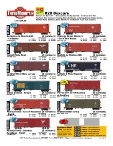 Baltimore & Ohio Nickel Plate Road Central RR of New Jersey Maine Central Pennsylvania Chicago Great Western Norfolk & Western Lehigh & New England Ferrocarril de Chihuahua United States Army Undecorated Kit