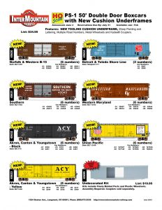 Norfolk & Western Southern Akron, Canton & Youngstown Detroit Toledo Shore Line Western Maryland Union Pacific Undecorated Kit