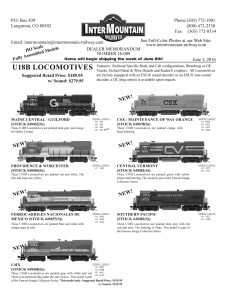 Maine Central Providence & Worcester Ferrocarriles Nacionales de Mexico LMX CSX Central Vermont Southern Pacific