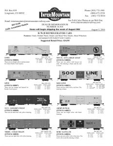 UPFE SPFE VCY - Golden West NRDX Cold Train WFCX - GN Large Goat Soo Line UP ARMN SFRC Santa Fe
