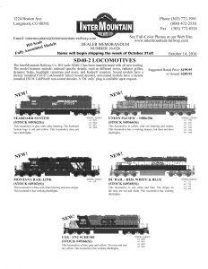 Seaboard System Union Pacific Montana Rail Link BC Rail CSX