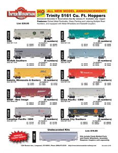 CSX Norfolk Southern Dakota, Minnesota & Eastern BNSF Canadian Pacific SOO AGP ADM Leaf Potash Union Pacific CMO Kansas City Southern Undecorated Kit