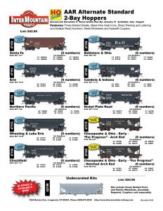 Santa Fe Erie Northern Pacific Wheeling & Lake Erie Clinchfield Baltimore & Ohio Cambria & Indiana Nickel Plate Road Chesapeake & Ohio Undecorated Kit