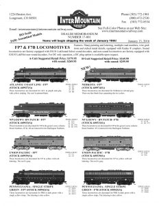 Atlantic Coast Line Northern Pacific Loewy Union Pacific Pennsylvania Nebkota
