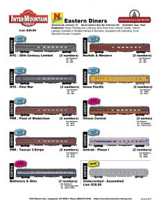New York Central Pennsylvania Baltimore & Ohio Norfolk & Western Union Pacific Illinois Central Amtrak Undecorated Assembled