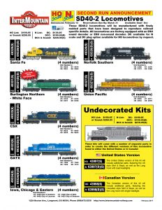 Santa Fe Burlington Northern CSX GATX Iowa Chicago & Eastern Norfolk Southern Union Pacific Undecorated Kits