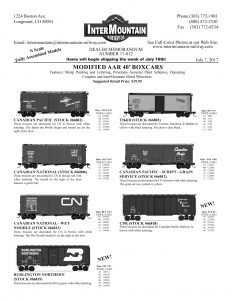 Canadian Pacific Canadian National Burlington Northern Toronto, Hamilton & Buffalo