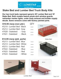 Stake Bed and Lumber Bed Truck Body Kits